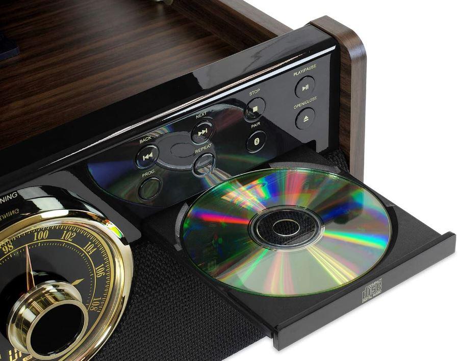 platine vinyle Victrola Empire Chaîne Stéréo 6-en-1
